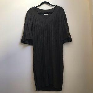Calvin Klein Gray Sweater Dress XL